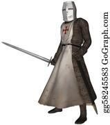 Knights - Early Medieval Templar Knight
