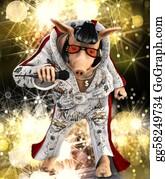 Singer - Singer Toon Pig