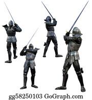 Knights - Knight Swordsman In Full Armour