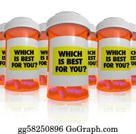 Prescription-Drugs - Many Prescription Bottles - Which Medicine Is Best