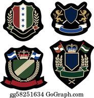 Royal-Lion - Classic Wreath Emblem Badge