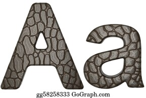 Croc - Alligator Skin Font A Lowercase And Capital Letters