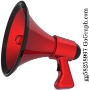 Public-Speaking - Megaphone Hot News Message