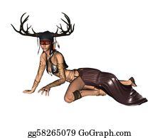 Antler - Celtic Woodland Goddess - 3