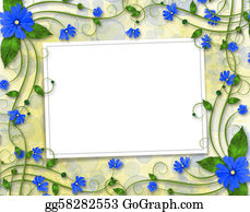 Congratulations - Congratulations To The Holiday With Frame And Blue Flowers