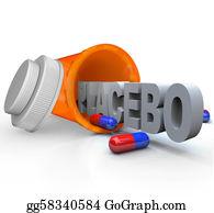 Prescription-Drugs - Prescription Medicine Bottle - Placebo Capsule Word