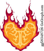 Flaming-Heart - Flaming Heart Tattoo