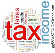 Income-Tax - Wordcloud Of Income Tax
