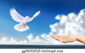 Hand-Sign - Peaceful Dove