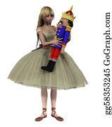 Nutcracker-Illustration - Clara And The Nutcracker Doll - 1