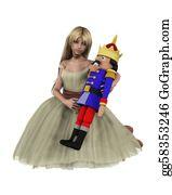 Nutcracker-Illustration - Clara And The Nutcracker Doll - 2