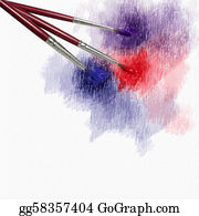 Congratulations - Grunge Background With Brush For Advertising And Congratulations