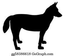 Huskies - Alaskan Husky Silhouette