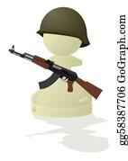 Pawn - White Chess Pawn With A Gun