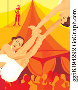 Acrobatic - Acrobats Performing In Circus