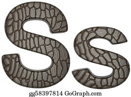 Croc - Alligator Skin Font S Lowercase And Capital Letters