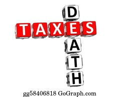 Income-Tax - 3d Death Taxes Crossword