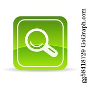 Forward - Green Magnifying Glass Icon