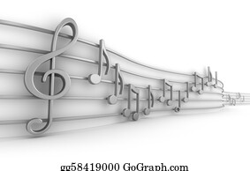Musical-Notes - Set Of Nine Musical Notes Isolated