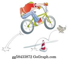 Acrobatic - Boy Practicing Jumps Bike