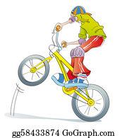 Acrobatic - Boy Practicing Bike Pirouettes