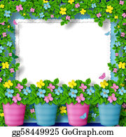 Congratulations - Frame For Greeting Or Congratulation With Garland Of Flower