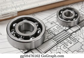 Hydraulic - Mechanical Scheme  With Bearing