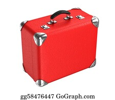 Suitcase - 3d Red Suitcase