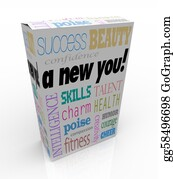 Humor - A New You - Product Box Selling Instant Self-Help Improvement