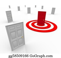 Bullseye - One Targeted Door Address In Bulls-Eye Target Marketing
