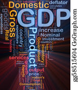 Government-And-Economy - Gdp Economy Background Concept Glowing
