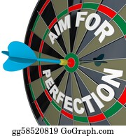 Bullseye - Aim For Perfection - Dart Hits Target Bulls-Eye On Dartboard