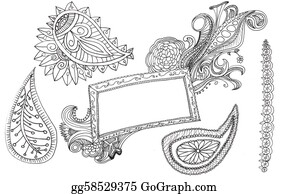 Paisley-Art - Hand Drawn Paisleys