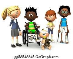 Sad-Child - Five Injured Cartoon Kids.