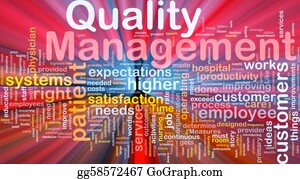 Management - Quality Management Background Concept Glowing