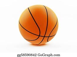 Basketball-Hoop - Basketball Isolated On White