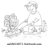Lawn-Mower - Lawn Mower Man, Outline