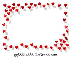 Valentine-Border-Hearts-Frame - Heart Border