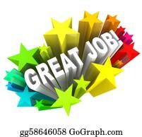 Appreciation - Great Job Words Praising A Successful Goal Accomplished