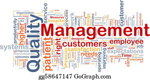 Management - Quality Management Background Concept