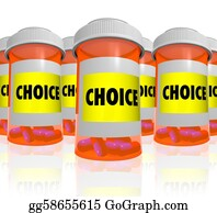 Prescription-Drugs - Choice - Choose From Many Prescription Bottles