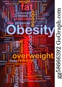 Overweight - Obesity Fat Background Concept Glowing