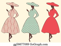 Classic-Victorian-Pattern - Vintage Silhouette Of Girl