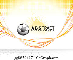 Football-Abstract - Abstract Colorful Line Wave Background With Football