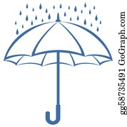 Umbrella - Umbrella And Rain, Pictogram