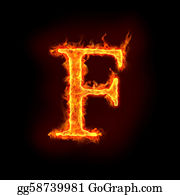 Letter-F - Fire Alphabets, F