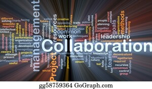 Management - Collaboration Management Background Concept Glowing
