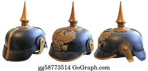 Military-Eagle-Emblem - Wwi Leather Helmet