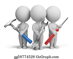 Plumbing - 3d Small People - Repairers