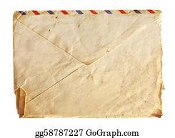 Air-Mail-Stamp - Old Air Envelope